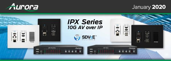 Aurora IPX Series 10G AV over IP